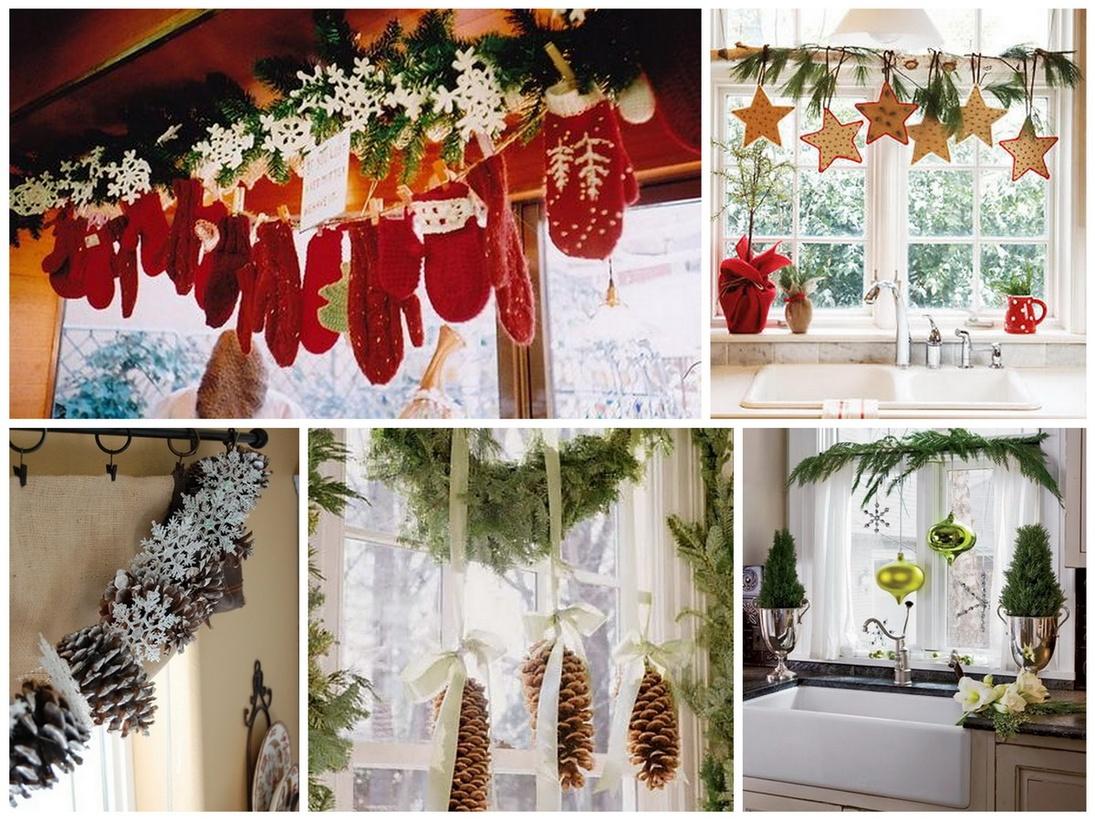 Новогодние украшения своими руками фото на окнах