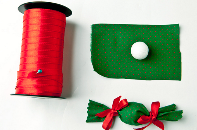 Текстильный рождественский венок. Мастер-класс (10) (675x444, 518Kb)