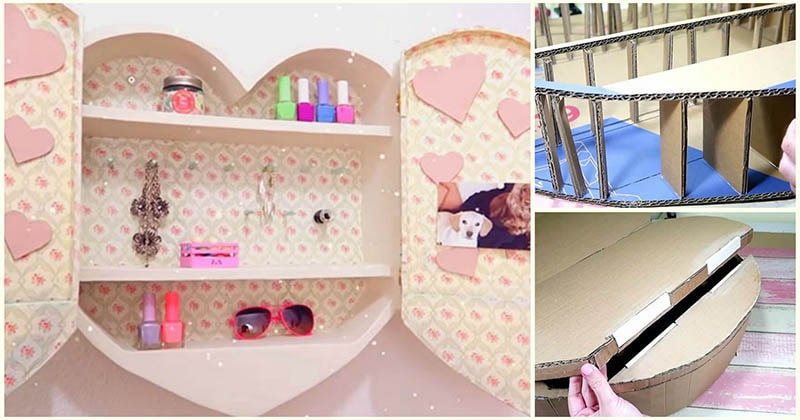 Нестандартный подход к декору: мебель для дома из плотного картона