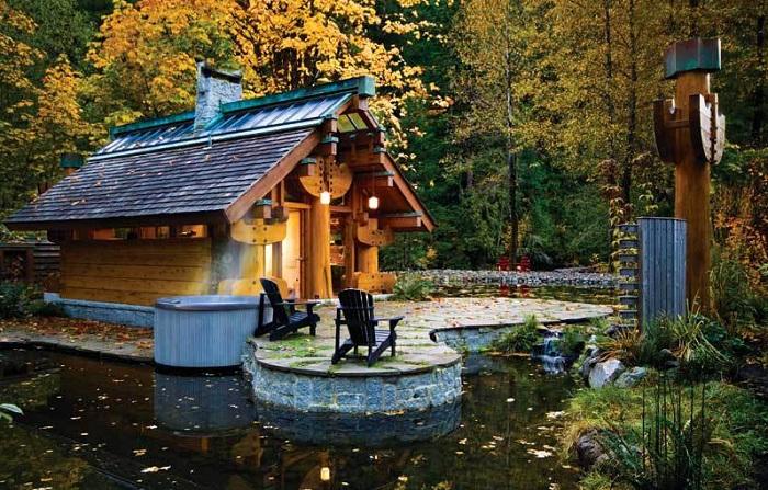 Отличный вариант для отдыха - деревянный домик площадью всего 37 кв. метров