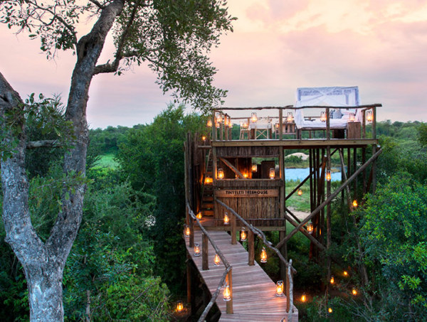 Бунгало отеля Lion Sands Game Reserve.