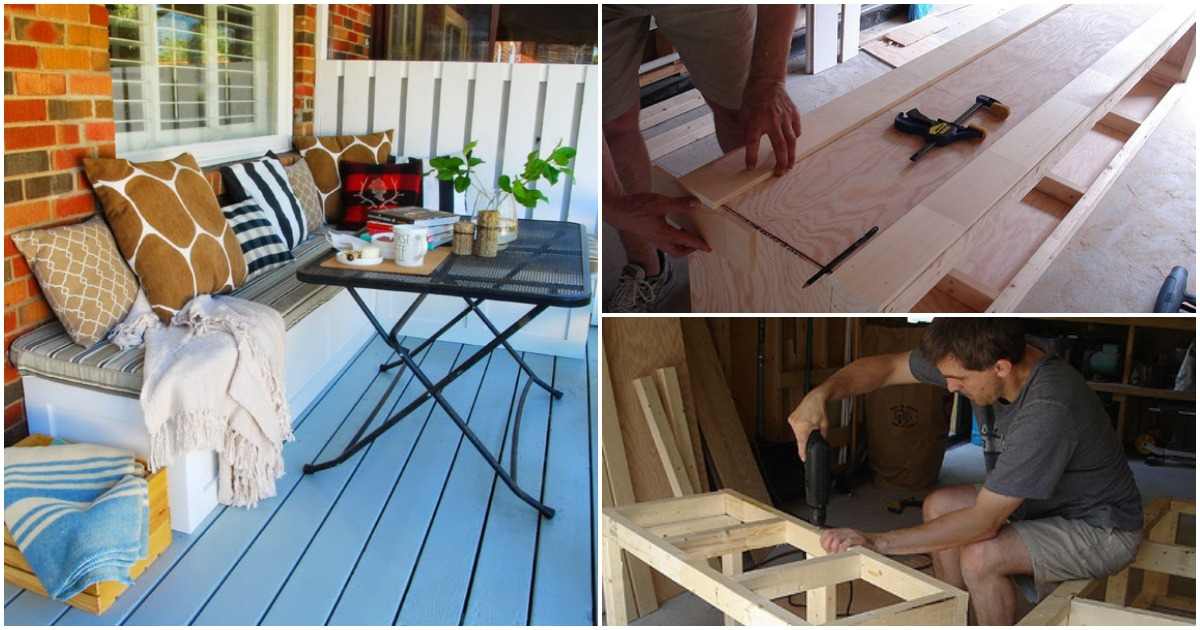 Наводим порядок на балконе: мастерим удобную кушетку-ящик для хранения