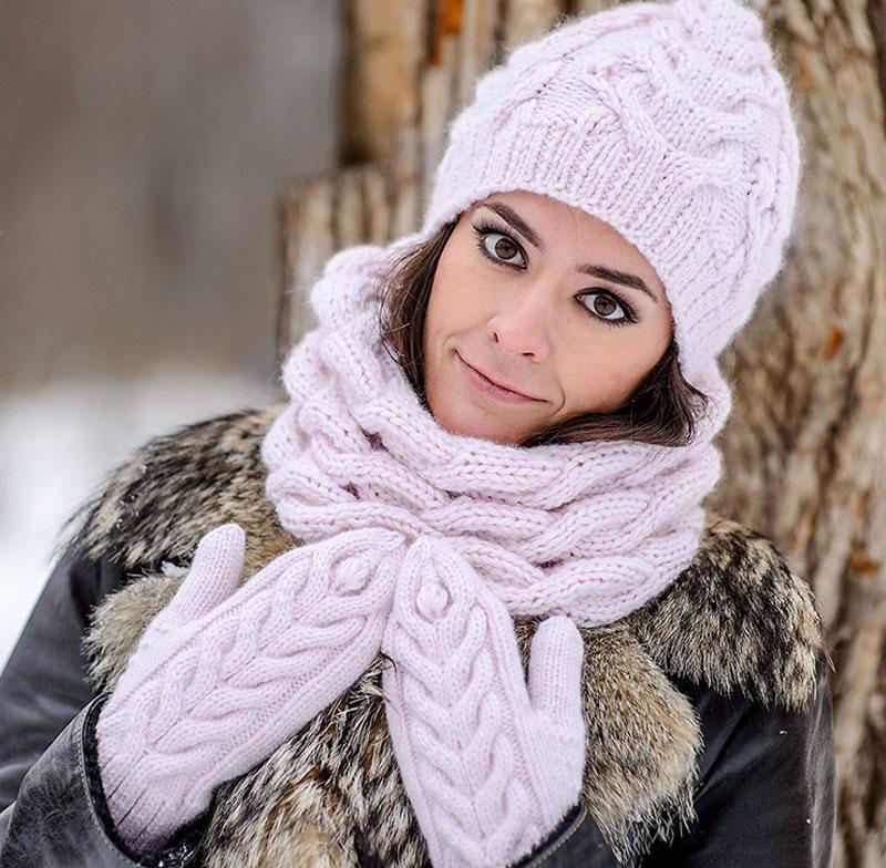 Вязание зимний снуд 124