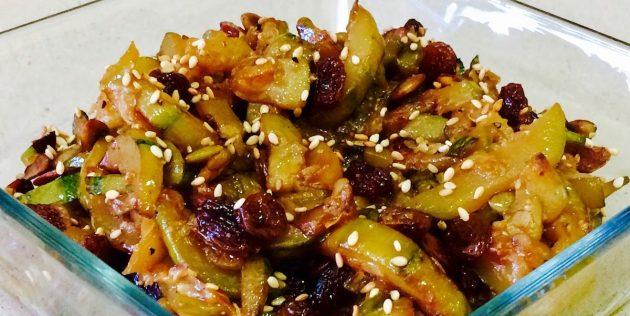 Блюда из кабачков: Кабачки, жаренные в соевом соусе