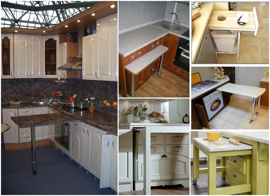 Выдвижной стол на кухне: всегда удобно и практично