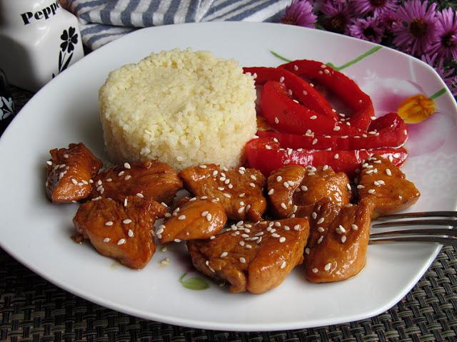 Карамельная курица по - тайски
