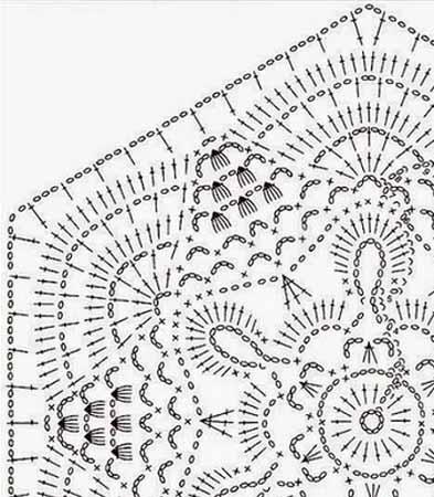 Красивый ажурный шестиугольный мотив