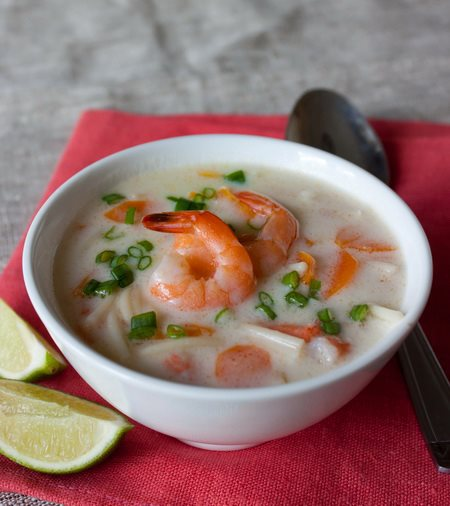 Суп с креветками и молоком с фото