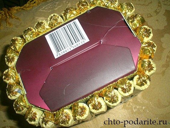 Изготовление шкатулки из конфет, шаг 3