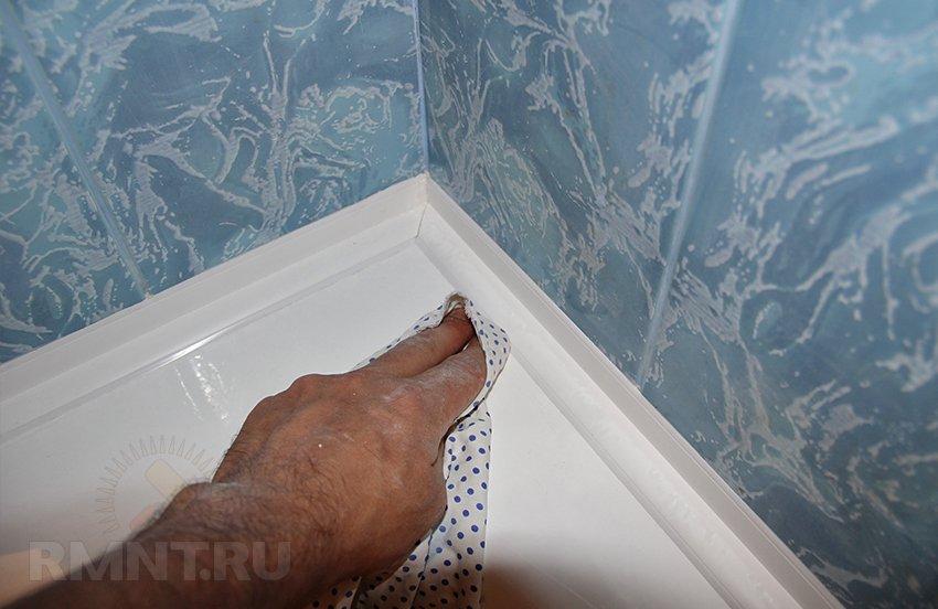 Плинтус для ванной как сделать