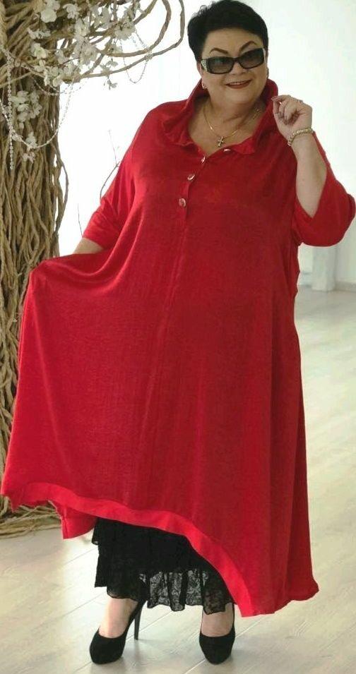 Красное платье бохо с черной отделкой