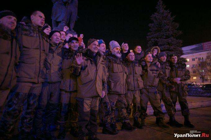 35 уральских добровольцев отправились в Донбасс