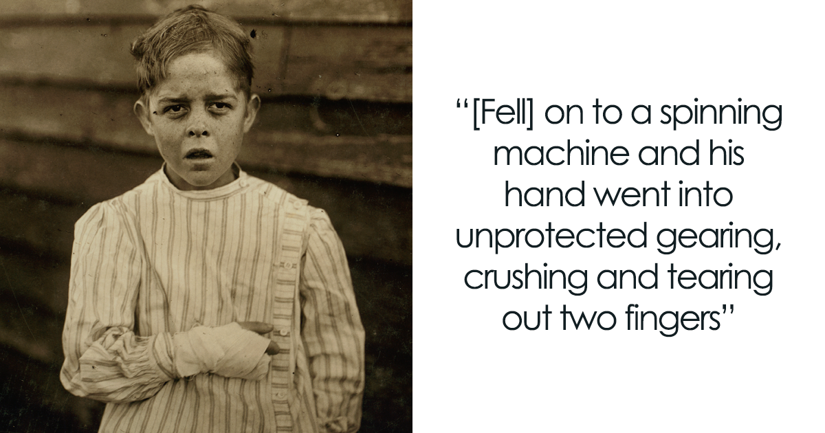 Gruesome Pictures From The 1900s Showing The Struggles Of Working Children Before Child Labor Was Abolished