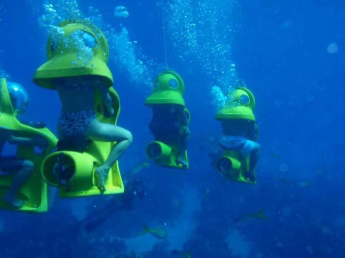 Прогулка в мини-субмаринах на Багамских островах.