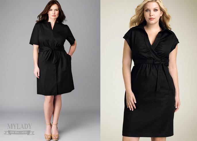 Платье рубашка женская для полных