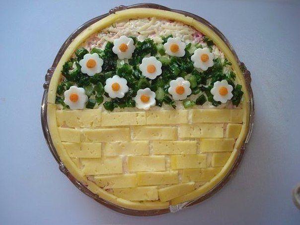 Необычная презентация салатов