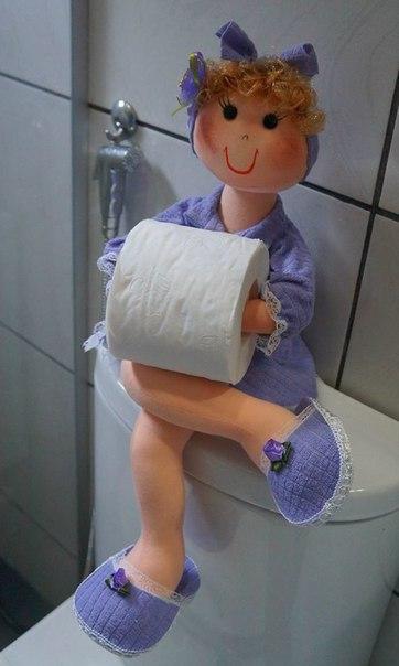 Держатели для туалетной бумаги. Как вам идейки?