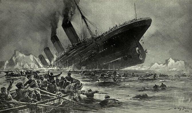 12. Кроме «Титаника», ни один лайнер в истории никогда не был потоплен айсбергом. интересно, кораблекрушение, титаник