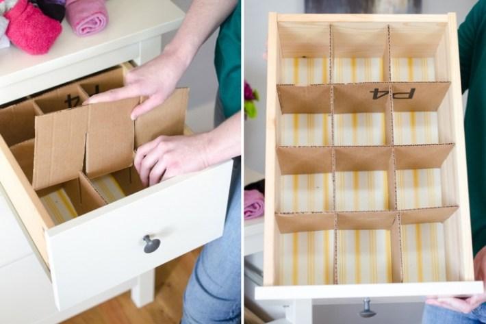 Как сделать своими руками перегородки в ящик для нижнего белья