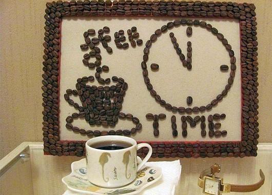 Как сделать своими руками картину из кофейных зерен