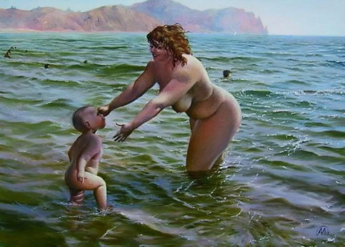 Ух, какие пампушечки! :)) Феномен полной женщины. Забавные рисунки художника Александра Иванова.