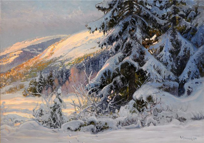 Зима-волшебница в творчестве художника Карла Брандта (Carl Brandt)