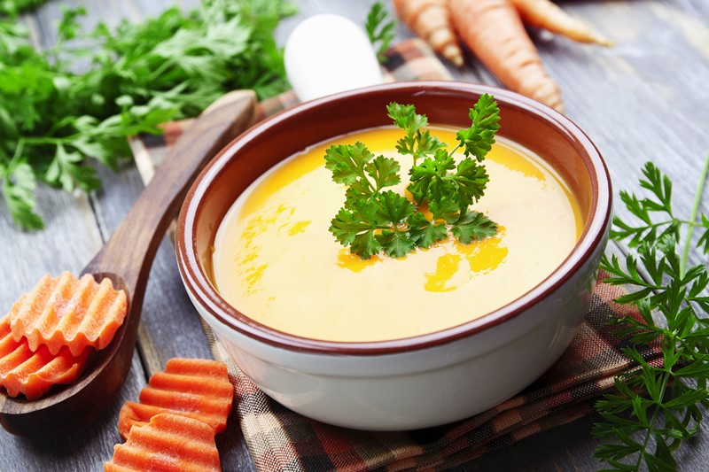 Рецепт морковного супа с чесночной заправкой