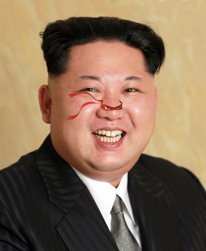 Photoshop This Newly Released Untouched Portrait Of Kim Jong-un (15 Pics)