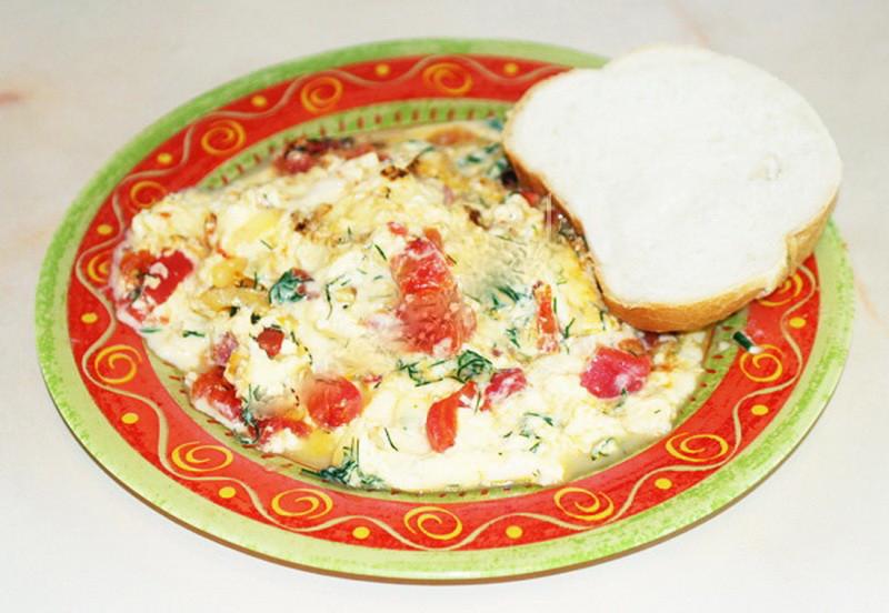 4. Омлет с помидорами еда, завтрак, омлет