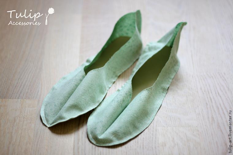 Шьем тапочки-балетки для дома