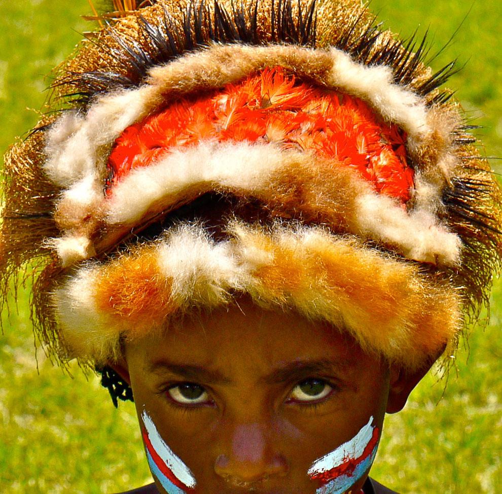 Раскраска лица папуаса