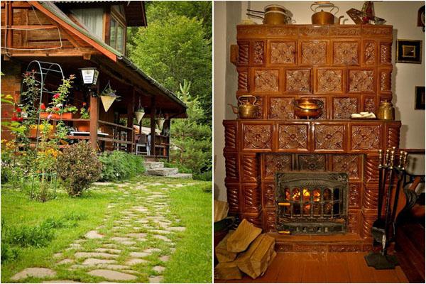 Традиционные элементы видны как внутри, так и снаружи
