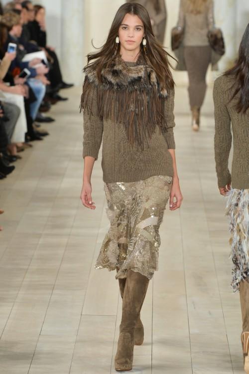 Ralph Lauren осень-зима 2015-2016, NYFW, knitwear, Неделя моды, вязана мода, кэмел, вязаный джемпер (фото 4)