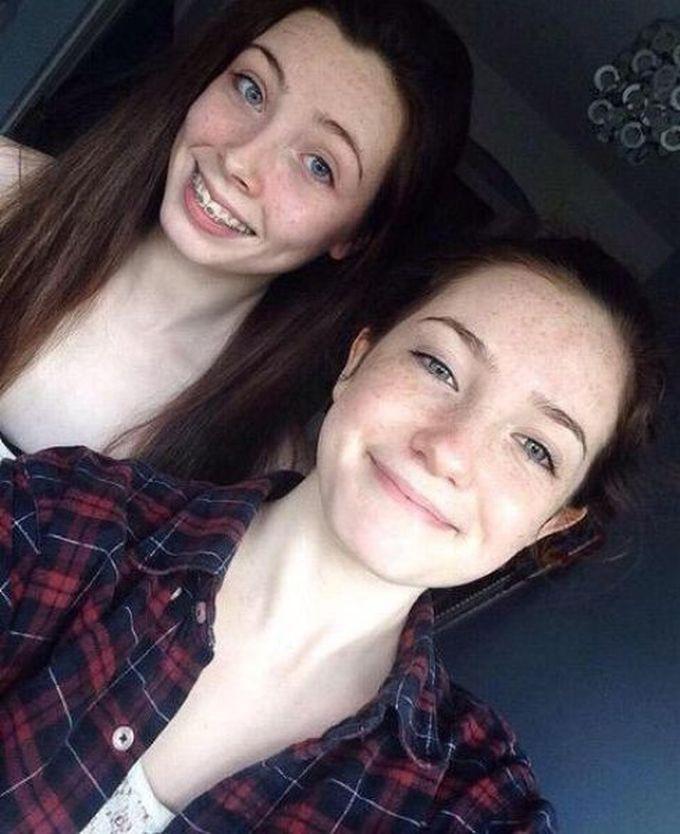 Две соблазнительные девушки с макияжем и без него девушки, кругом обман, макияж