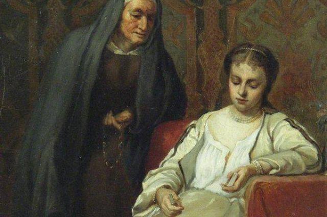«Марина Мнишек перед постригом в монахини». Клавдий Степанов.