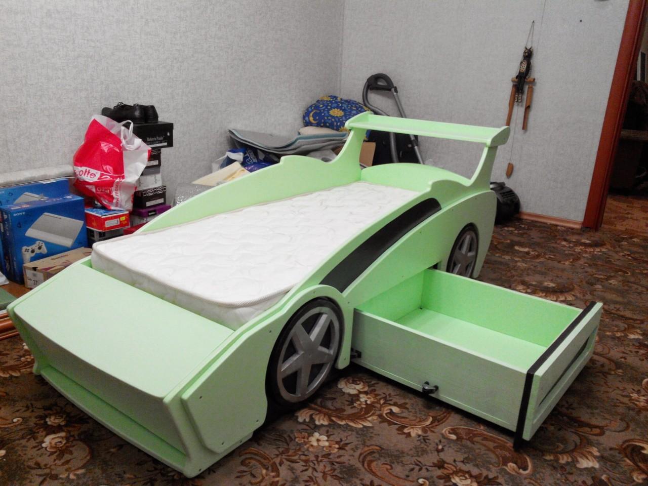Детская кровать своими руками в виде машинки