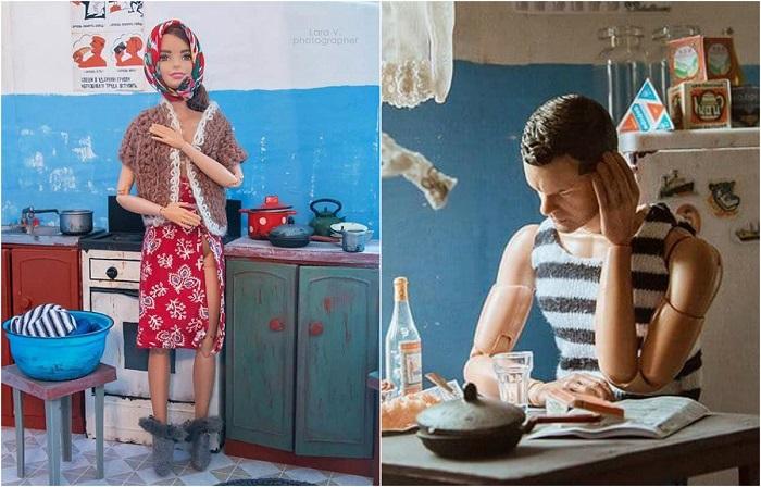 Российский фотограф переселила Барби и Кена в советскую «коммуналку»