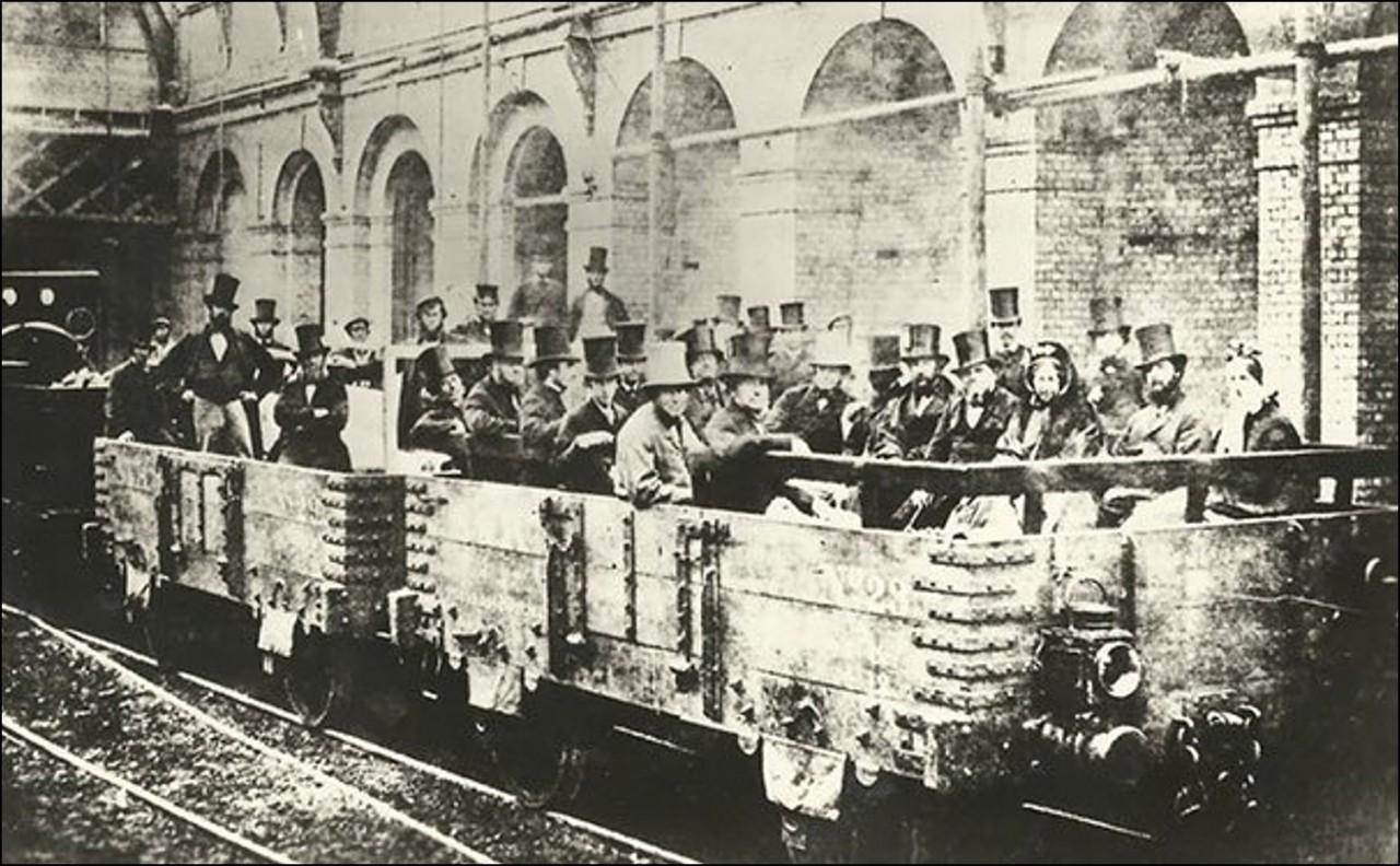 Первое в Истории подземное путешествие на поезде, Лондон, 1862 Историческая фотография, история, факты