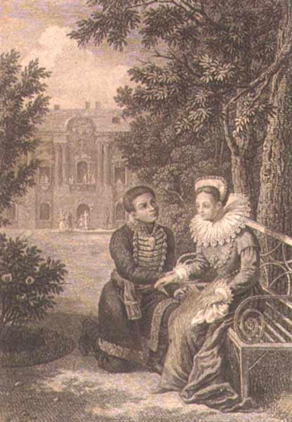 Лжедмитрий I и Марина Мнишек Гравюра Г. Ф. Галактионова начало XIX века