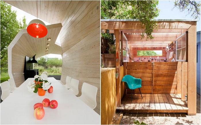 12 самых крутых садовых домиков и навесов со всего мира