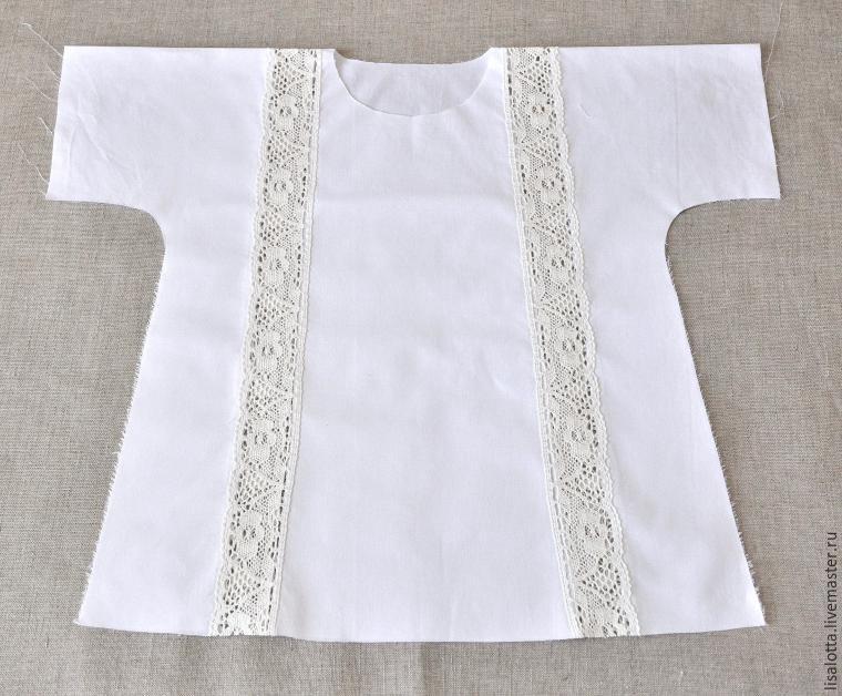 Шьем крестильную рубашку с кружевными вставками