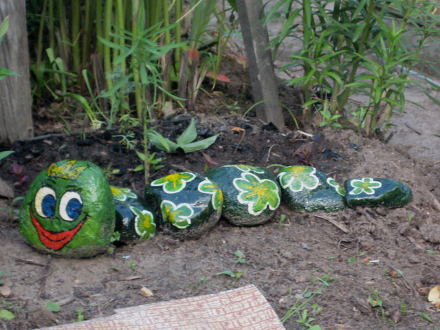 Фигурки для сада из камней своими руками фото