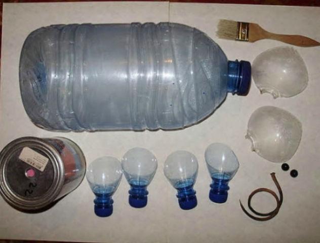 Свинка из пластиковых бутылок своими руками фото