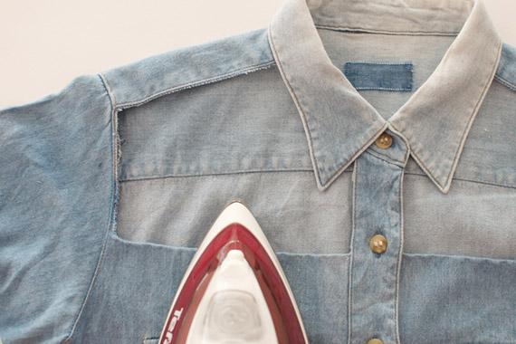 Как сделать джинсовую рубашку