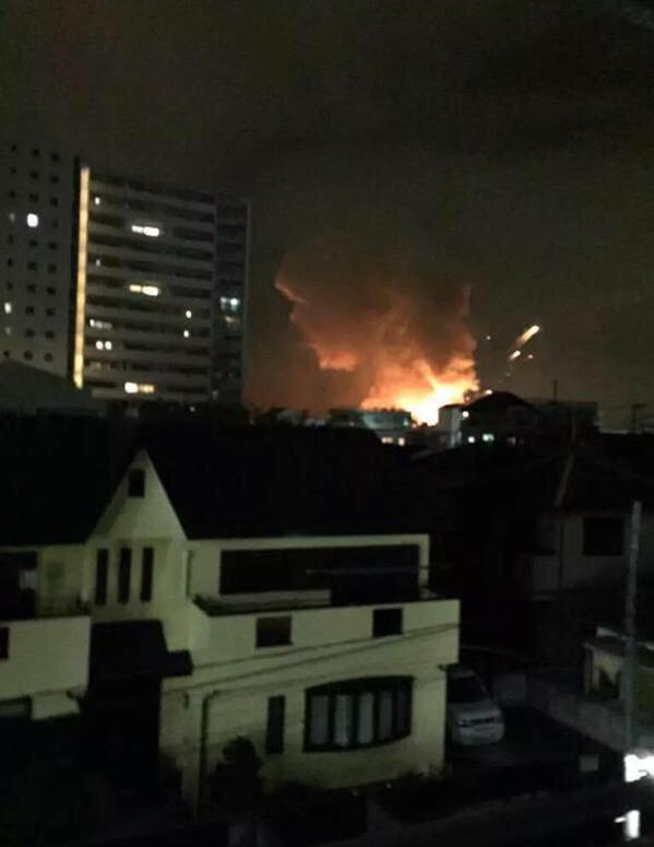 Праздничный фейерверк : Мощный взрыв прогремел на американском военном объекте в Японии