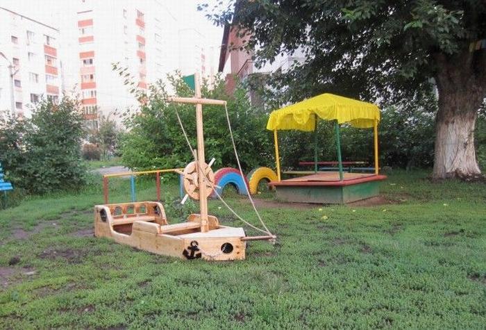 Кораблик на детских площадках своими руками
