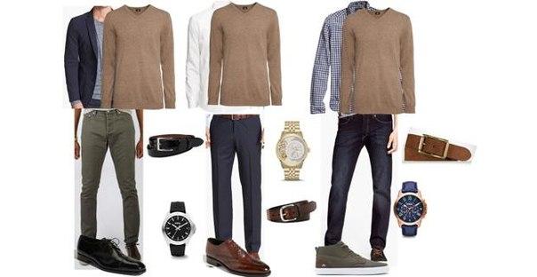 3 идеи для коричневого свитера