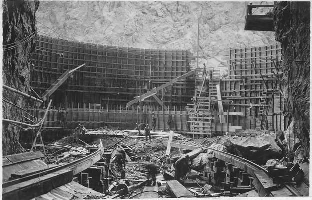 11. Плотина Гувера, США, 1932 год достопримечательности, здания, старые фото, строительство