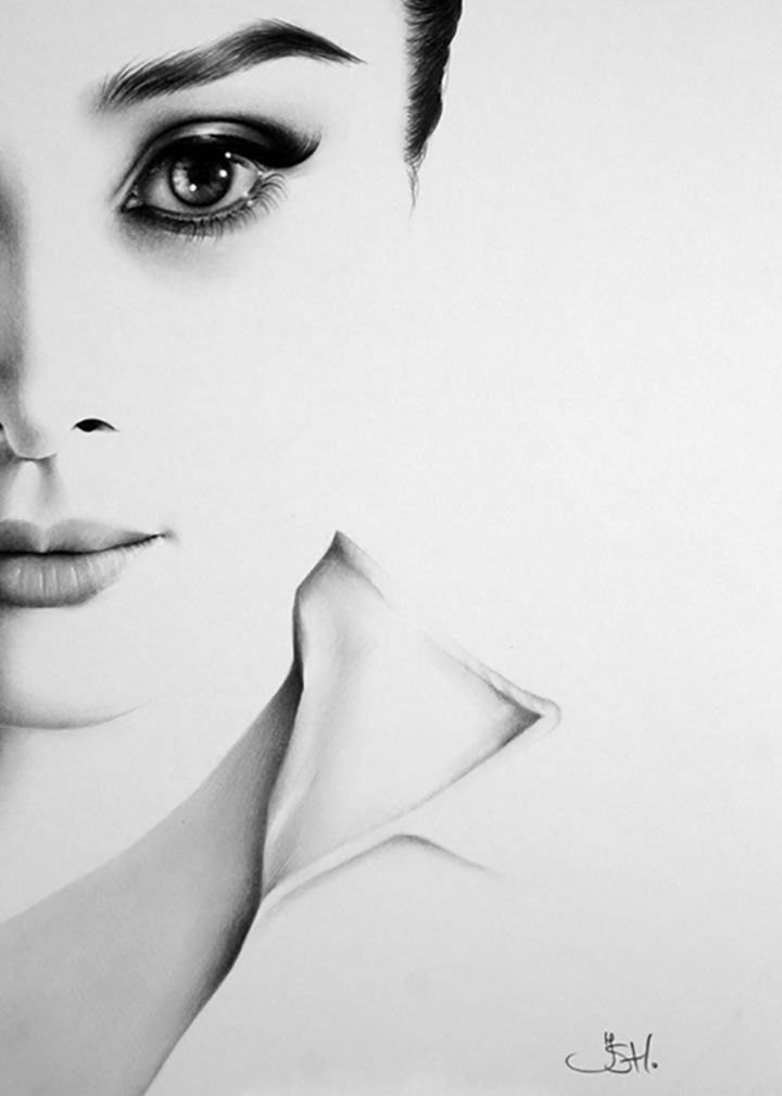 Ileana Hunter карандаш, рисунки, художник
