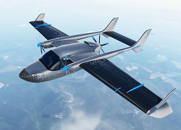 Французы создадут гибридный самолет с распределенной двигательной установкой